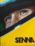 Senna film poster in Acrylic on Canvas.