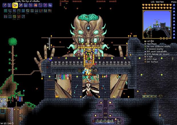 Terraria screen 17 - final boss