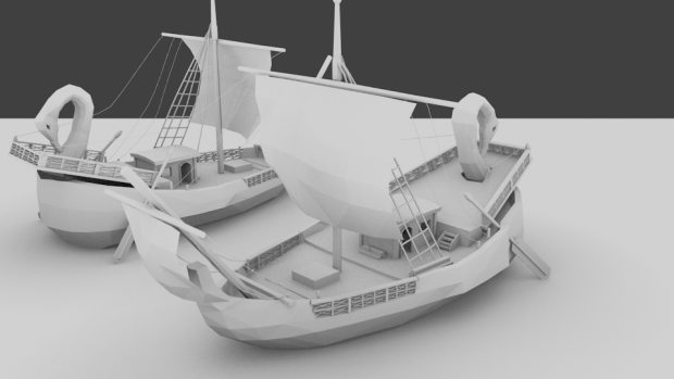 Finished (I guess) Rome Merchant Ship