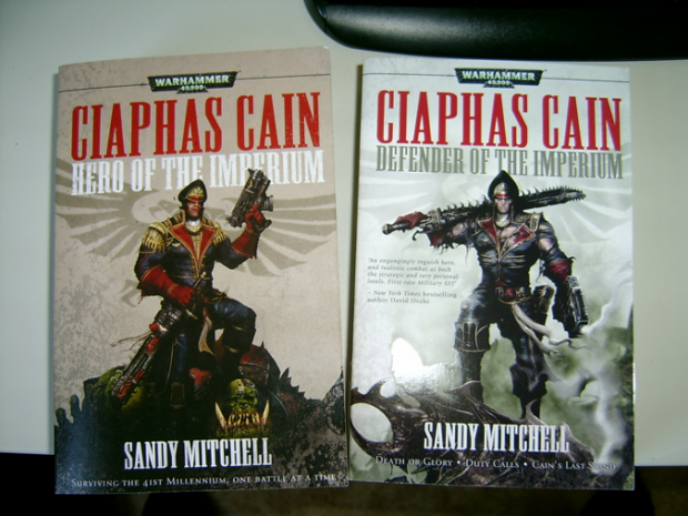 My Ciaphas Cain books and my desktop