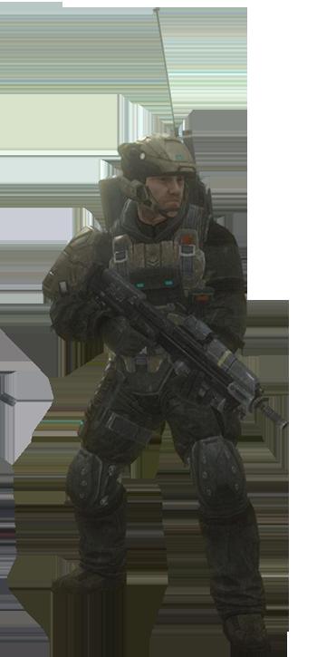 UNSC Army Radioman - Render