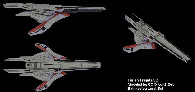 Turian Frigate Before and After