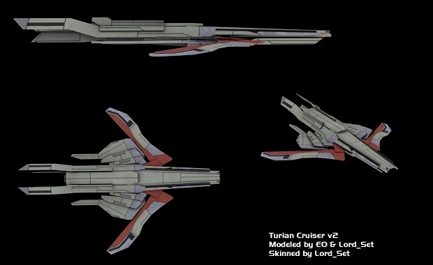Turian Cruiser Before and After