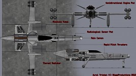 Hunter Space Fighter Schematic