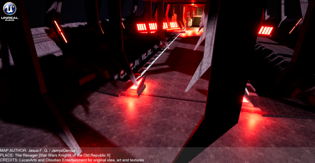 "Star Wars Knights of the Old Republic 2 ""The Ravager Observation Deck"" in Unreal"