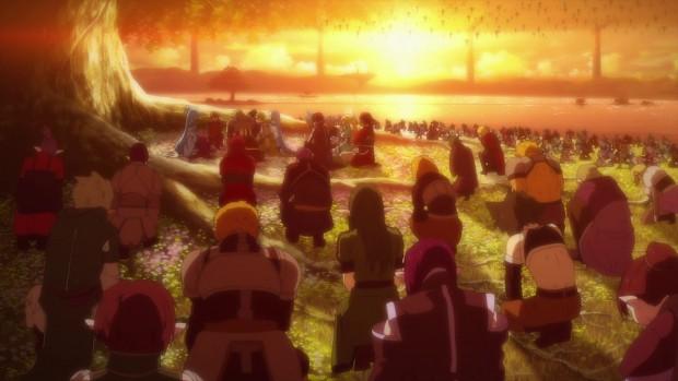 ALO players saying goodbye to Yuuki