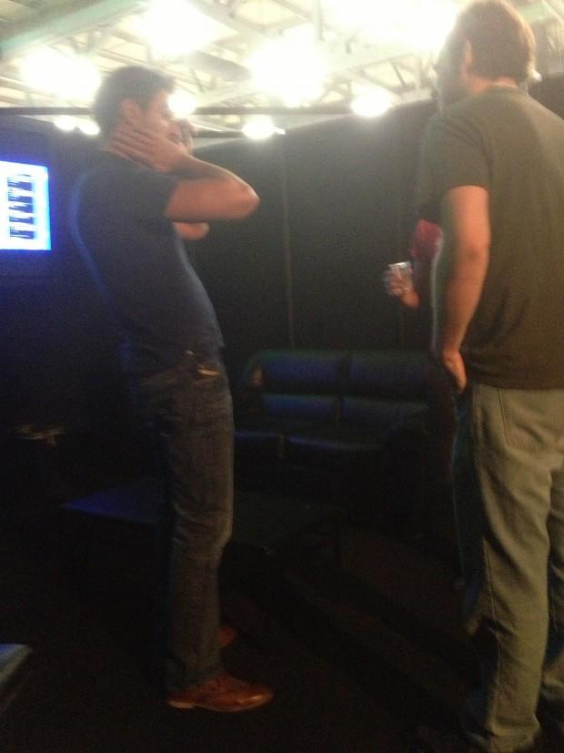 Geoff, Ryan and Gav in the VIP lounge