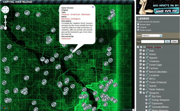 Google Fallout 3 map - The Capital Wasteland image ...
