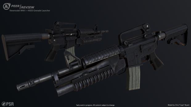 M4A1 + M203 Viewmodel Render