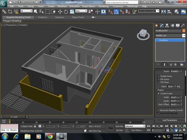 3d house ( line modeling )