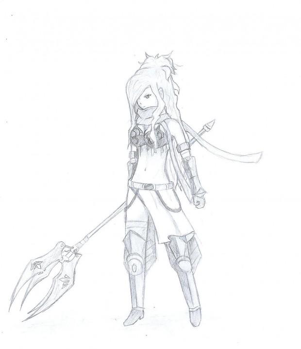 Erza Knightwalker drawing