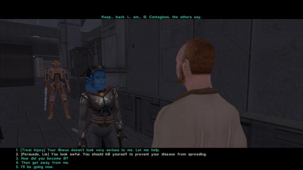 Kotor 2 Funny dialogue option