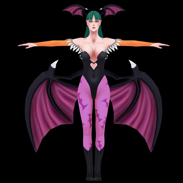 Morrigan Aensland created by Senluc.