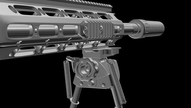 Remington XM2010 High-poly model