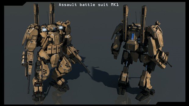 Assault battle suit
