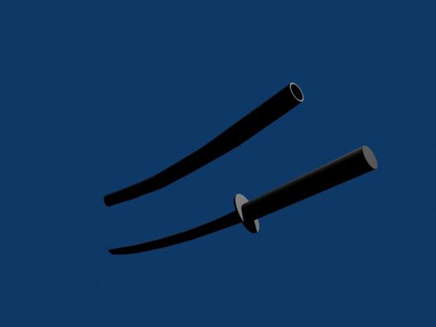 Katana Sword Render