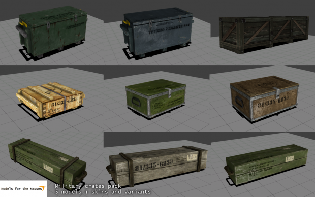 A bunch of crates