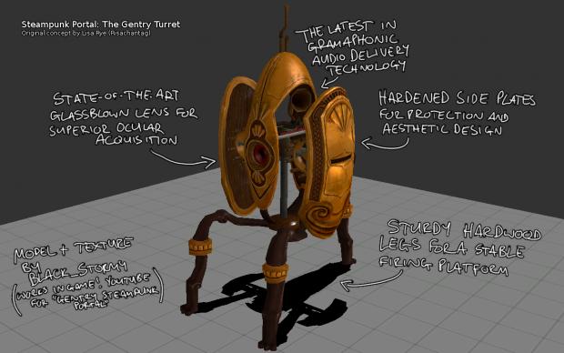 Steampunk Portal Turret