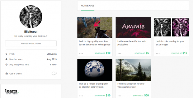 Opened Fiverr account :))