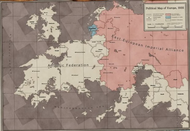 Valkyria Chronicles World Map