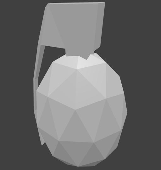Grenade Model Blank