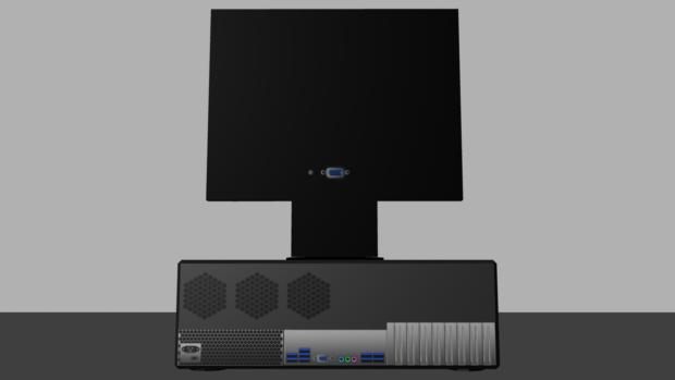 PC desktop (back)