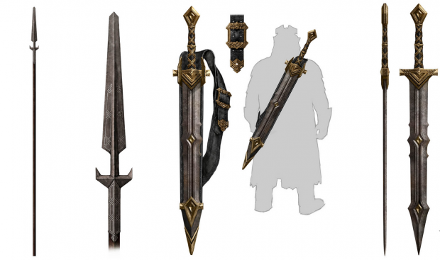 Dwarven Weapons Spear And Two Hand Swords Image