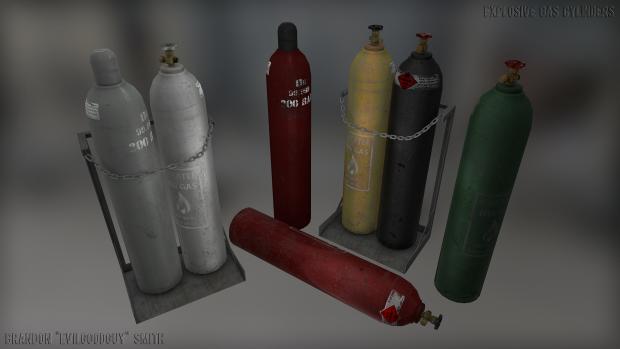 Gas Cylinders Render