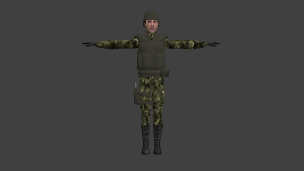 Soldier-woodlands