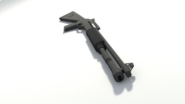 Shotgun 3D model #1