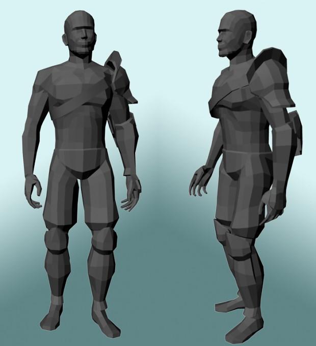 3D Warrior Model