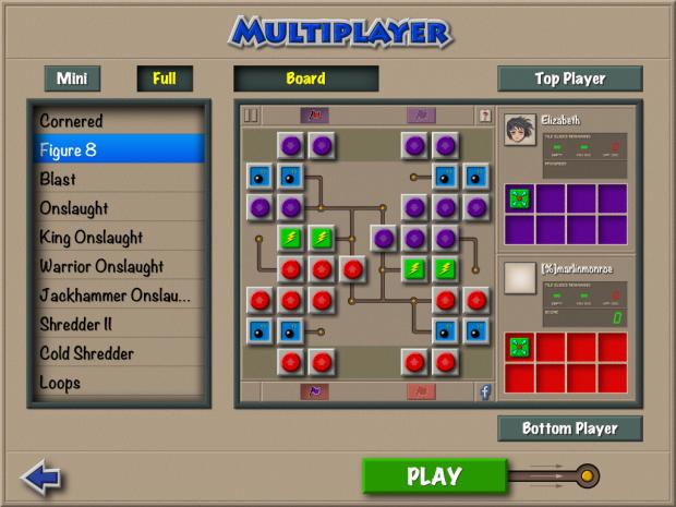 Multiplayer Pass 'n Play Screen