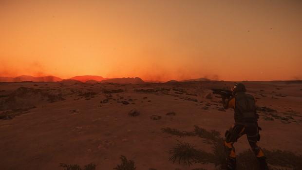 Sunset - Hurston planet