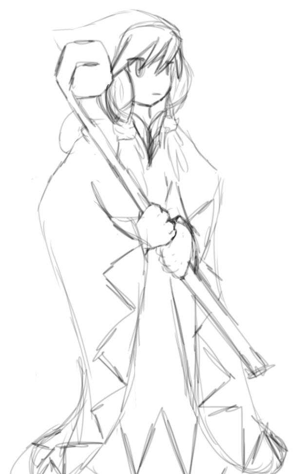 Drawing :White Mage