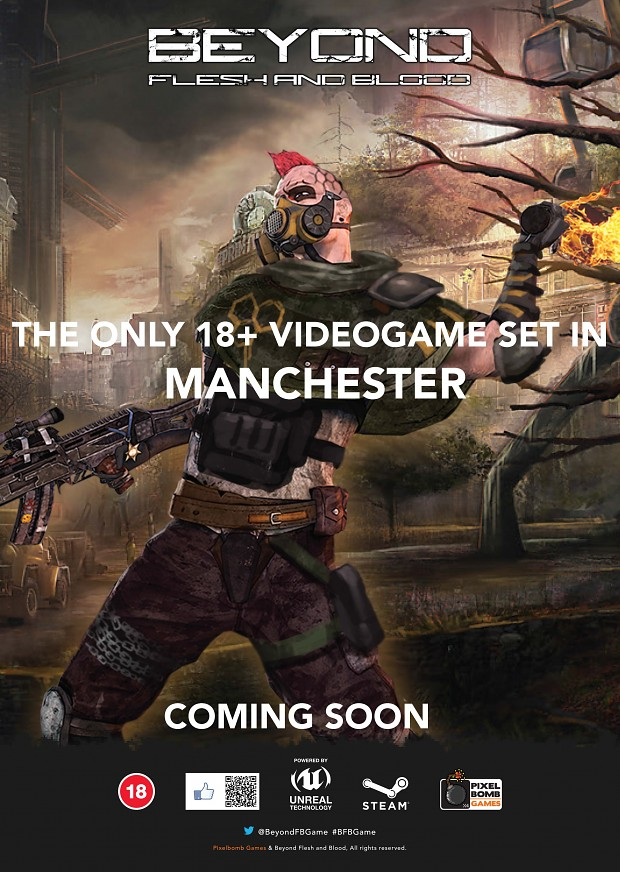 Poster in Manchester for Beyond Flesh and Blood