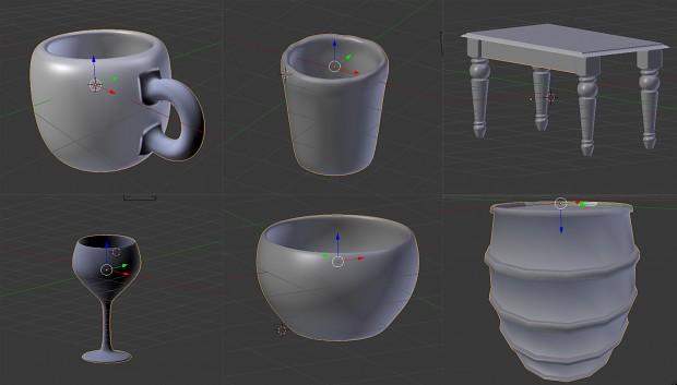 6 3D Models