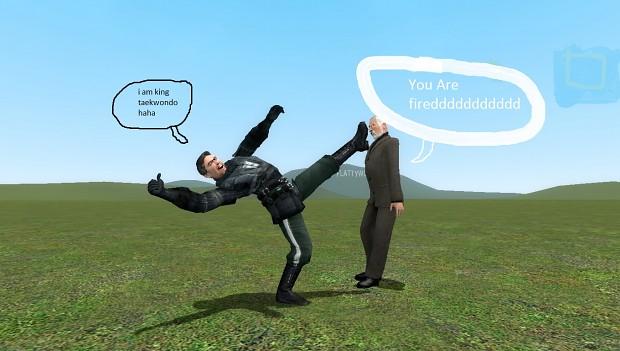Kick you boss
