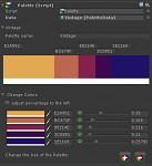 Color Palette UI with Vintage Palette
