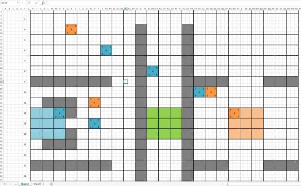 First prototype in Excel