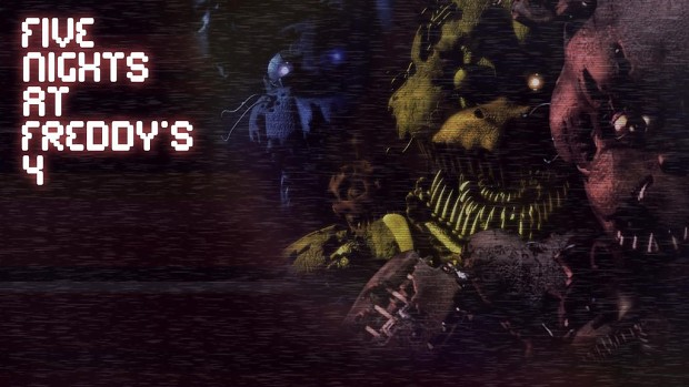 Five Nights At Freddy's fan made title screen