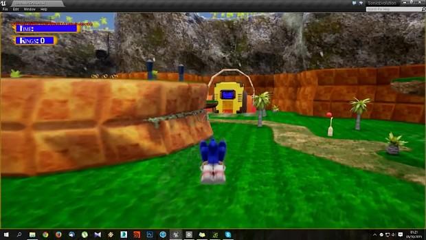 Sonic Jam World Remix - First Sonic Unreal Engine