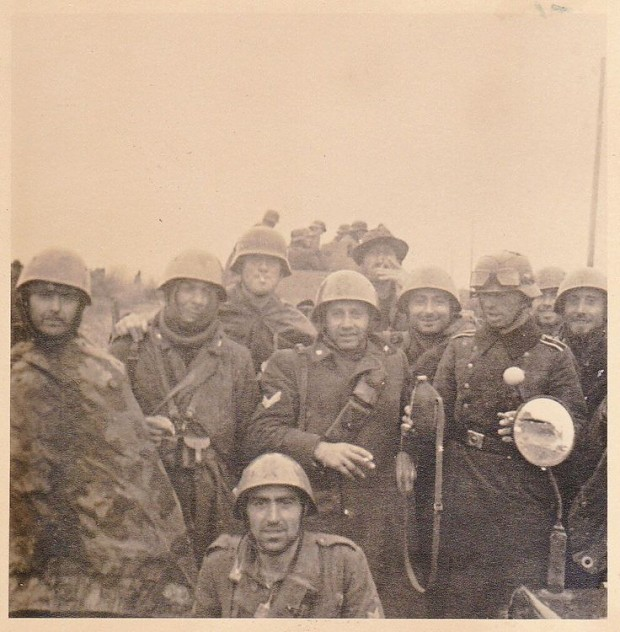 Somewhere in Russia Italian and German soldiers