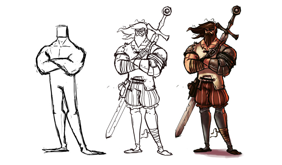 Character Concept Design Process : Creating a d character feature cross of the dutchman