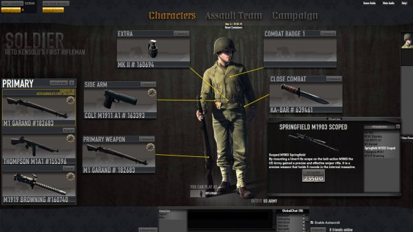 The new character screen in Bradley