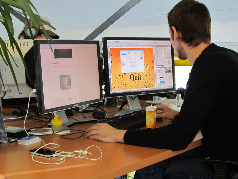 Willem designing the CotD's graphical user interface