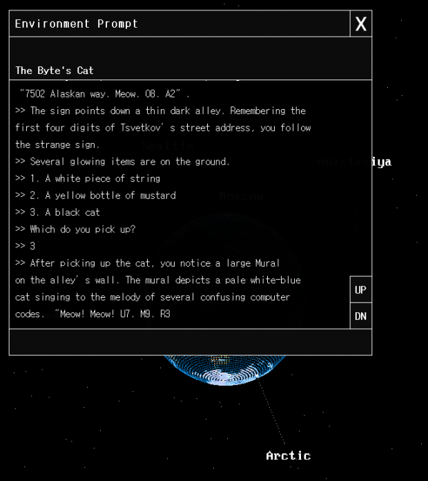 The Environment Interaction Window\