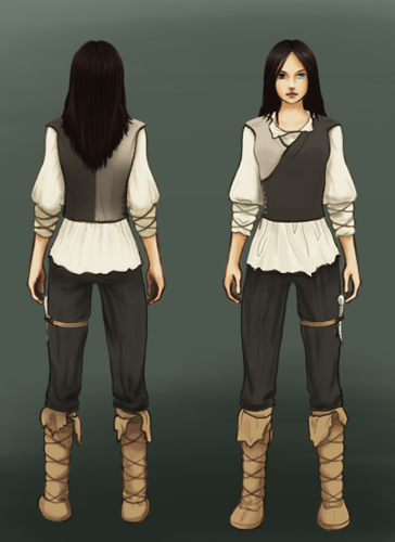 Aura in-game front and back views