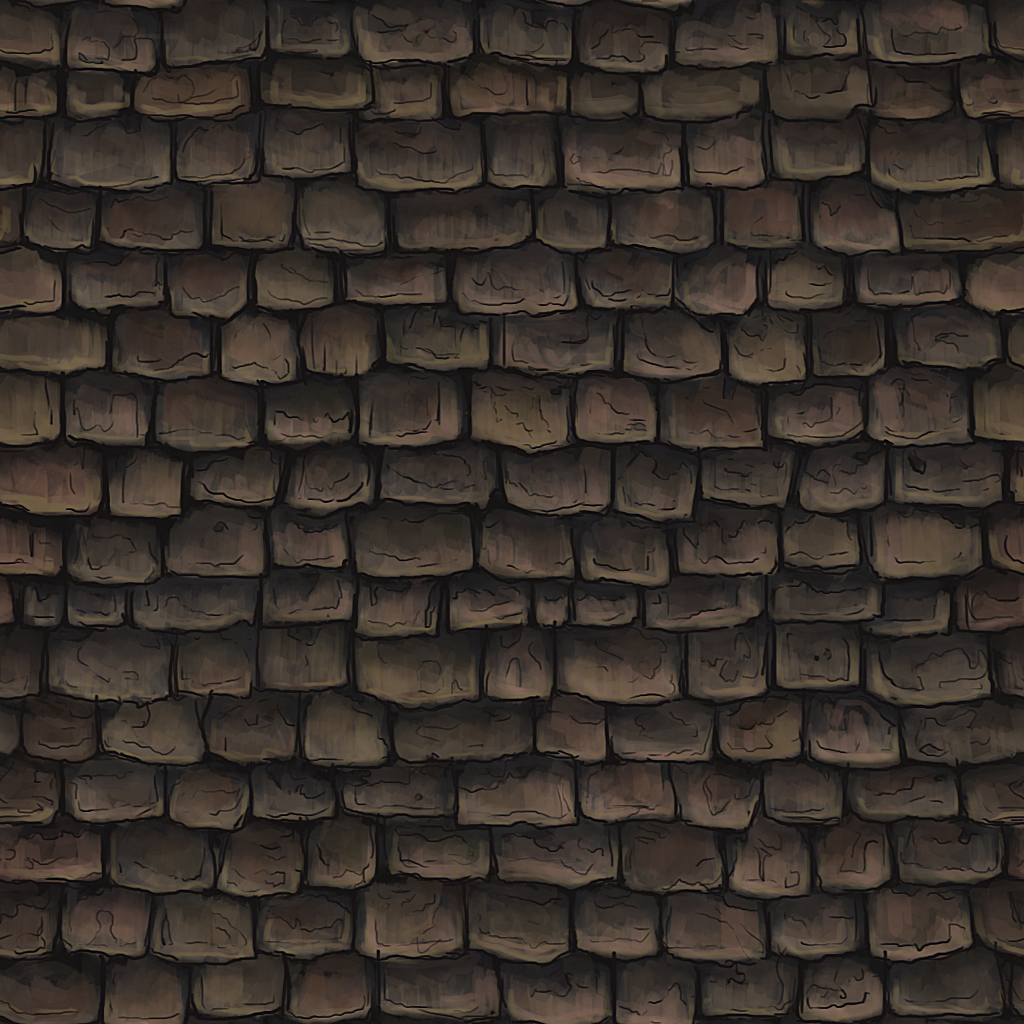 Hand Painted Shingles Texture