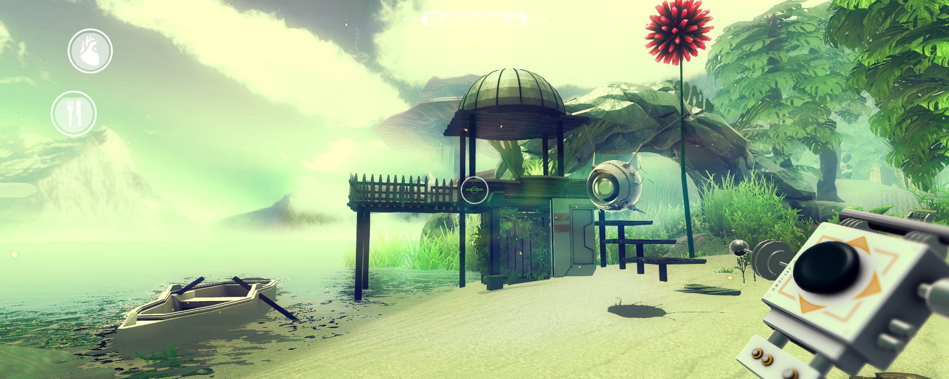 Hastily made beach hut