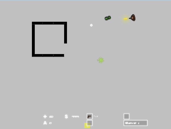 Playing on the 1st map made by the level editor